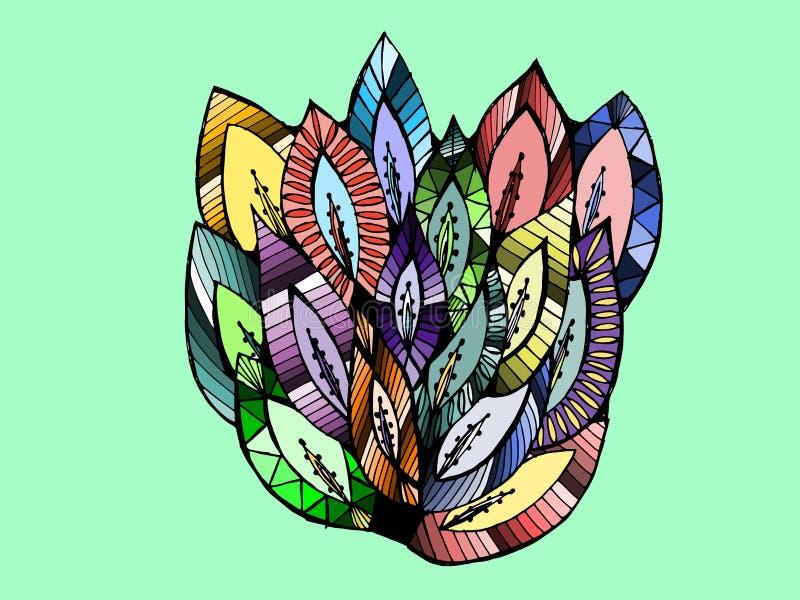 Olorful bladeren Ð ¡ royalty-vrije illustratie