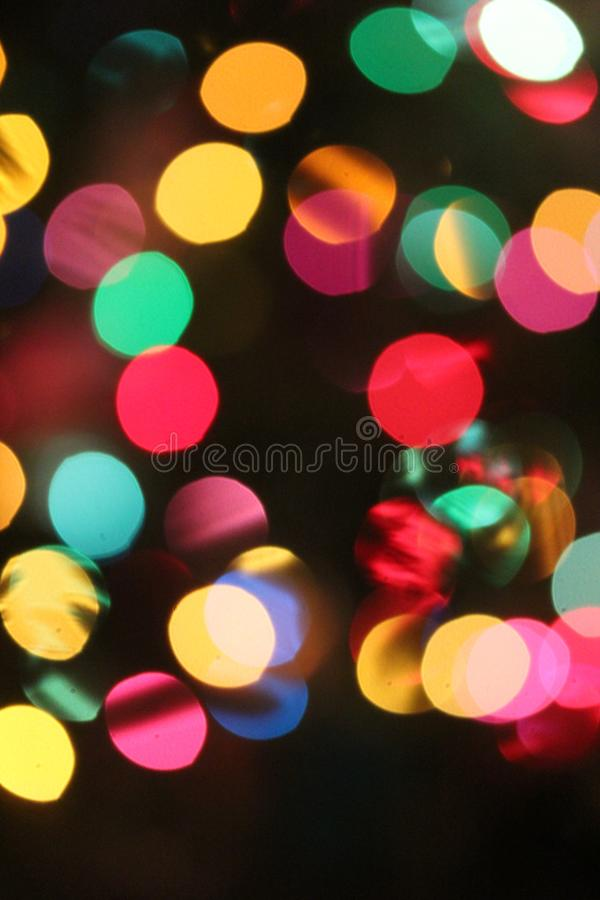 Olorful Christmas Celebration Bokeh royalty free stock photography