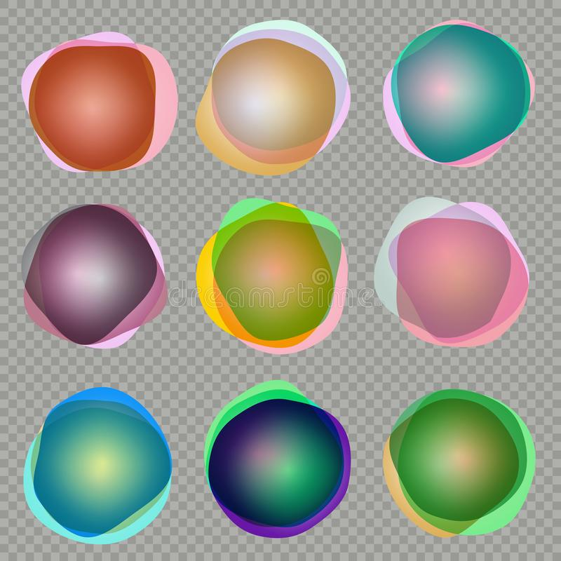 olorful 3d回合横幅 10 eps 向量例证