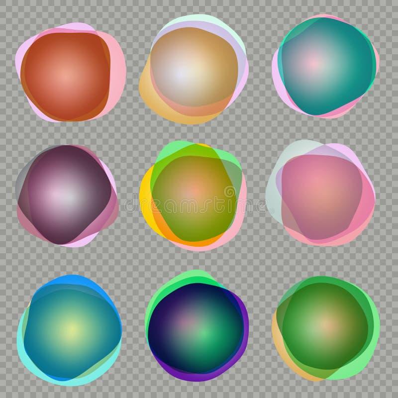 olorful 3d round sztandary 10 eps ilustracja wektor