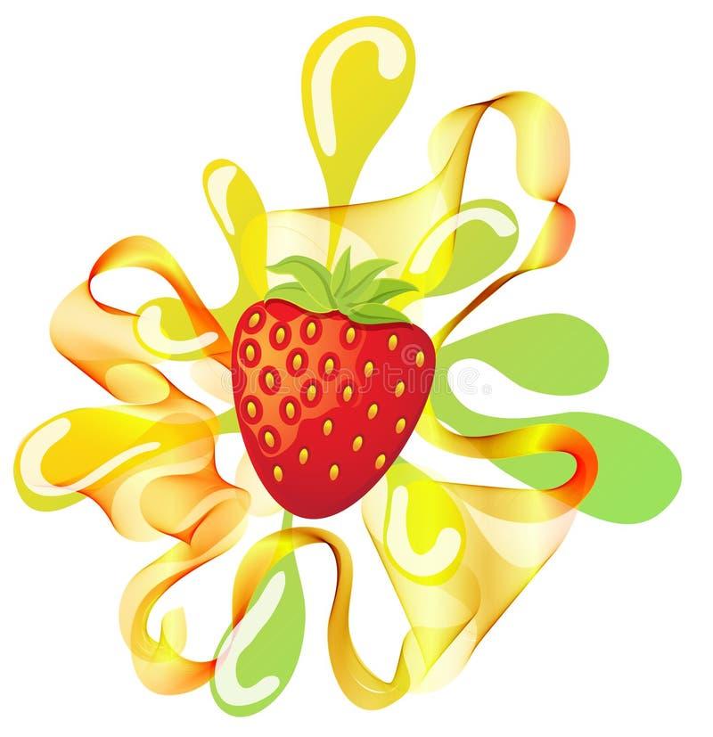 Download Сolorful Strawberry Background With Splash Stock Illustration - Image: 22487017