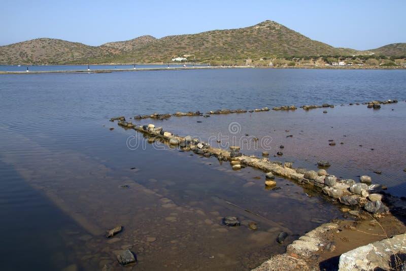 Olous, Creta, Grecia, la città incavata immagini stock libere da diritti