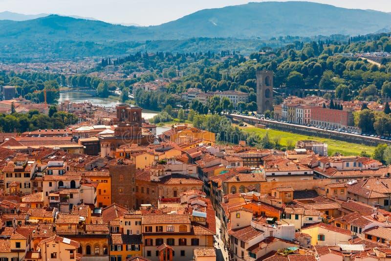 Oltrarno和波尔塔圣Niccolo在佛罗伦萨,意大利 库存照片
