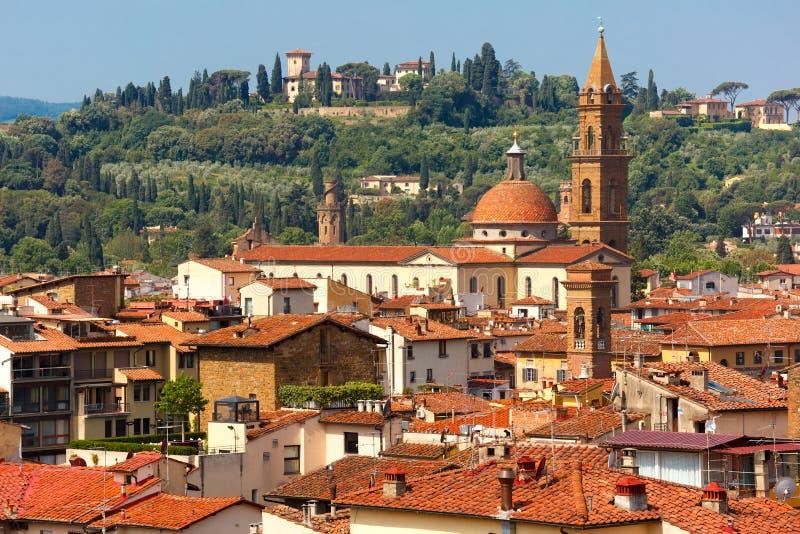 Oltrarno e Santo Spirito a Firenze, Italia immagini stock libere da diritti