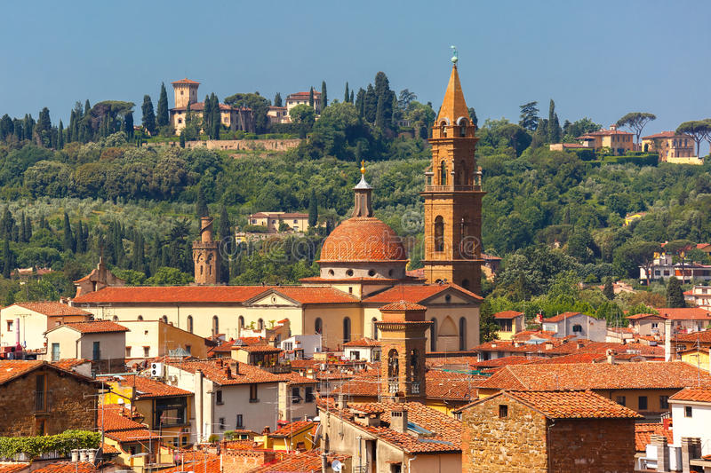 Oltrarno and Santo Spirito in Florence, Italy royalty free stock photo