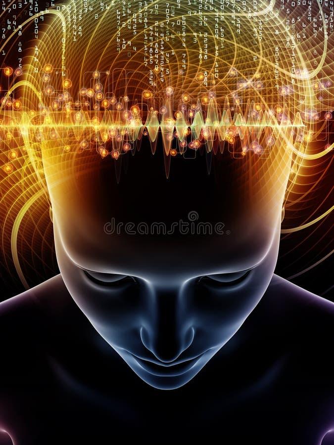 Oltre la mente umana illustrazione vettoriale