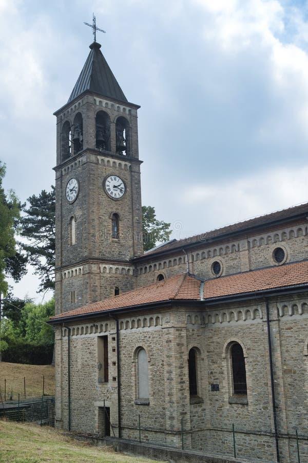 Oltrepo Pavese Włochy, Nostra SIgnora Di Montelungo, historyczny c zdjęcia royalty free