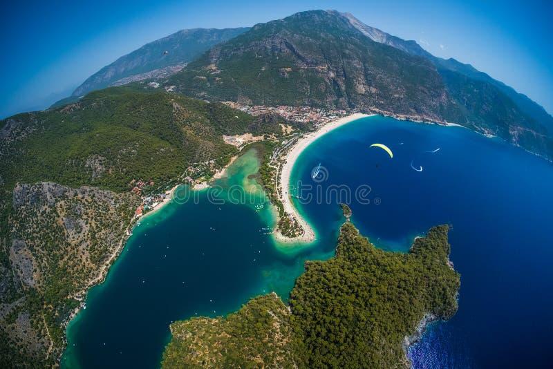 Oludeniz beach and blue lagoon royalty free stock photos