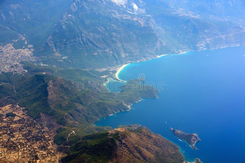 Oludeniz na costa mediterrânea de Turquia imagem de stock royalty free