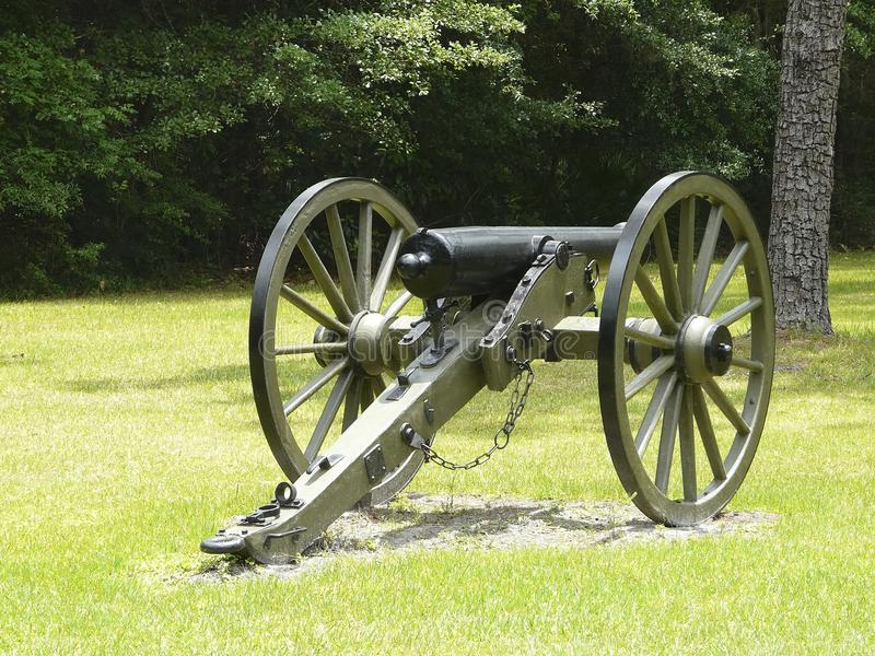 Olustee Battlefield Civil War Site Cannon royalty free stock image