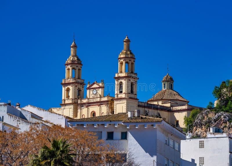 Olvera bia?a wioska w Cadiz prowincji, Andalusia, Hiszpania zdjęcie stock