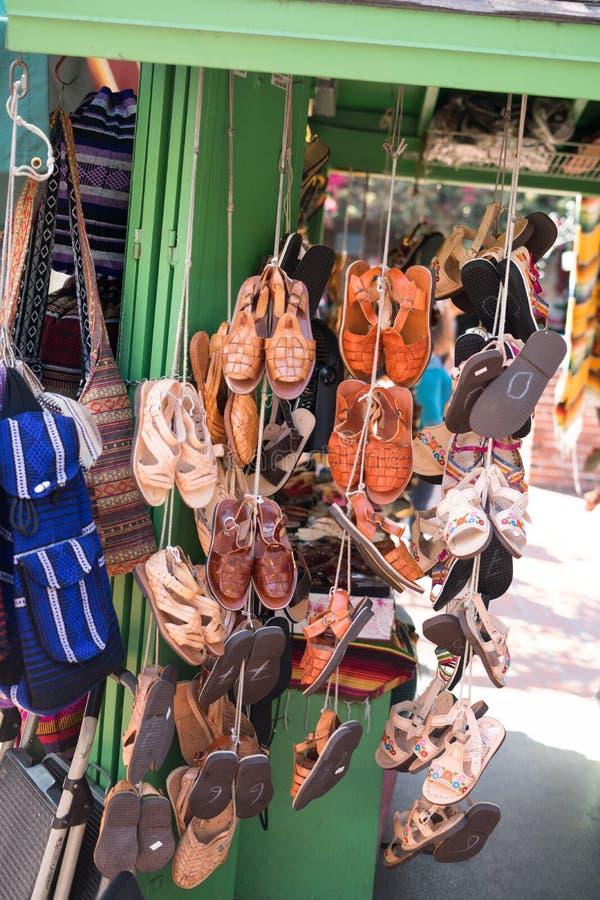 Olvera Straatdtla Mexicaanse markt stock afbeeldingen
