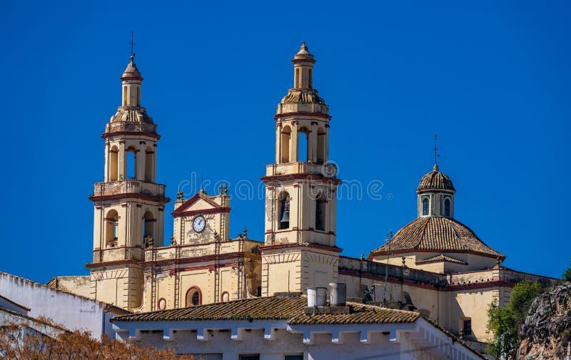Olvera vit by i det Cadiz landskapet, Andalusia, Spanien royaltyfri foto