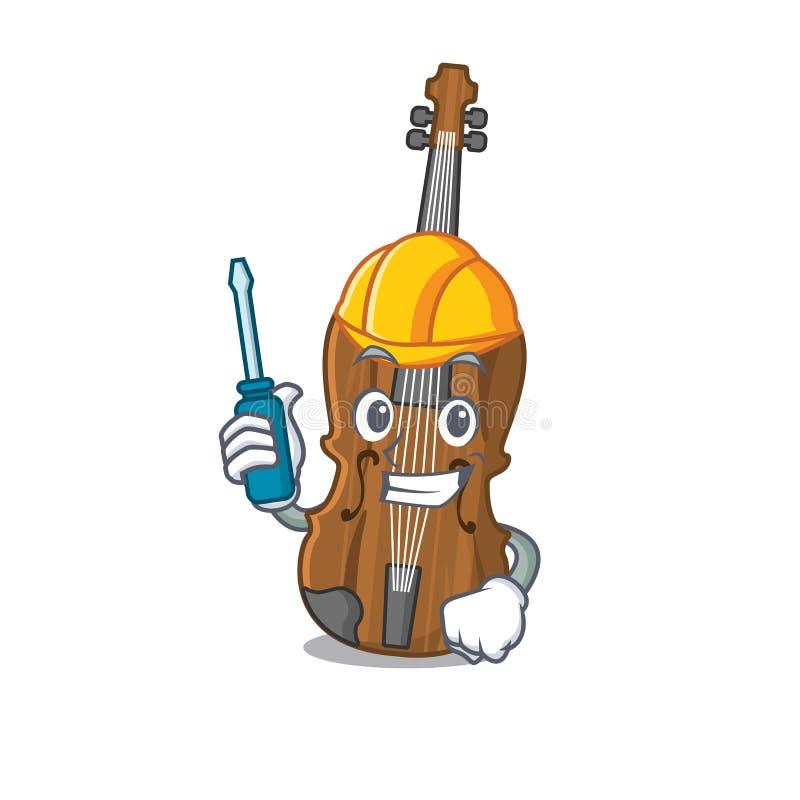 Olvidar el violín automotor en estilo caricaturista libre illustration