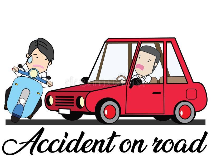 Olycka i tecknad filmfunktionsläge stock illustrationer