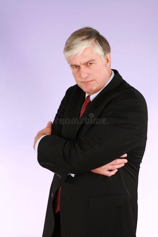 olycklig executive man fotografering för bildbyråer