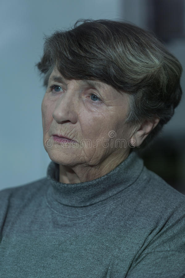 olycklig kvinna royaltyfria foton
