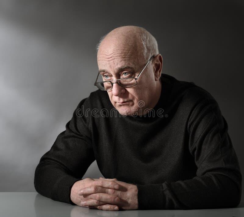 olycklig person royaltyfri fotografi