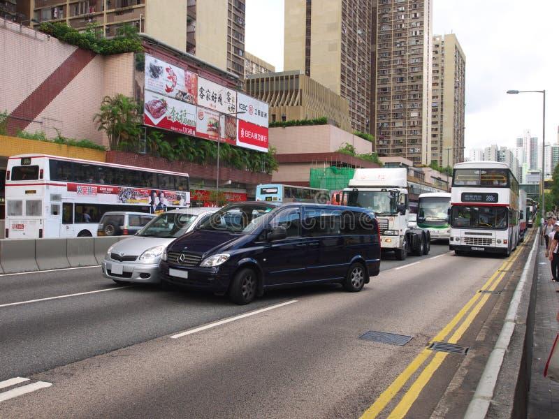 olycksbil Hong Kong royaltyfria foton