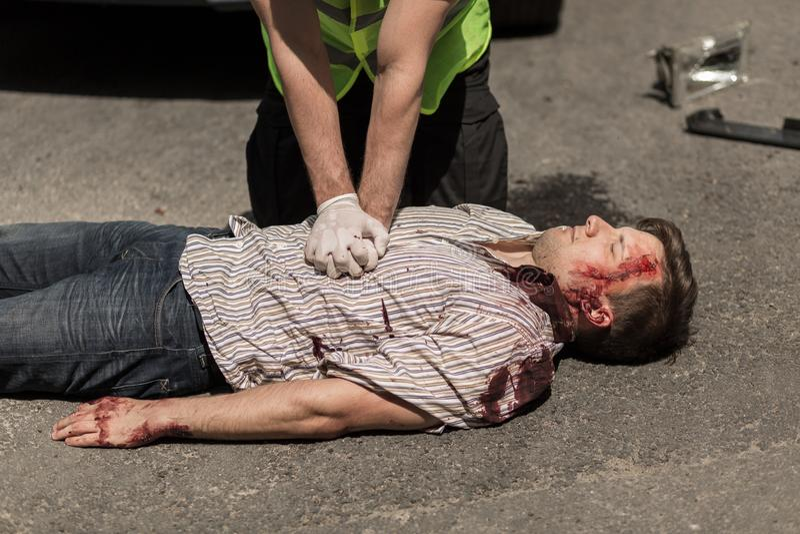 Olycksoffer för bilolycka royaltyfria foton