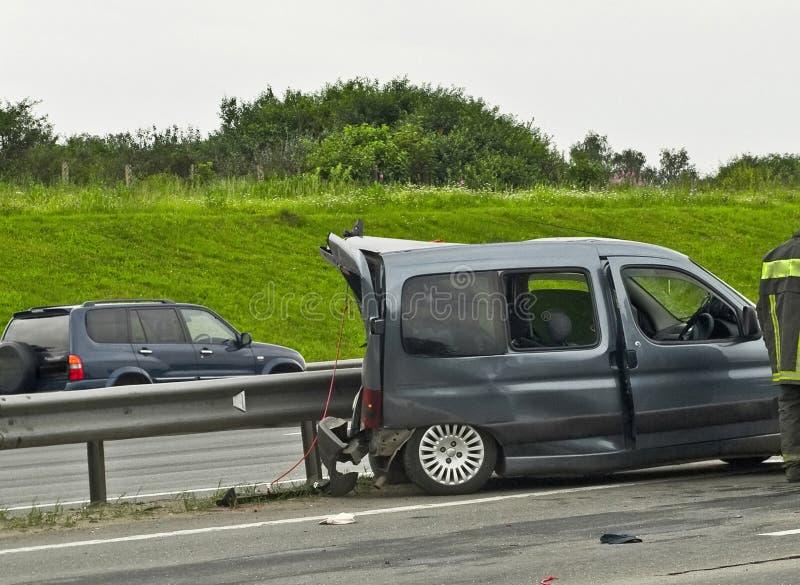 olycksväg arkivbild