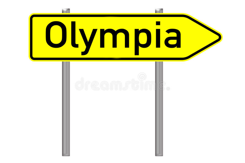 Olympia royaltyfri illustrationer