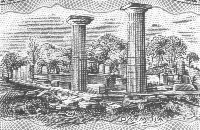 Olympia antiga fotografia de stock