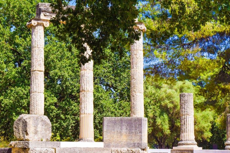 Olympia antiga, Greece fotografia de stock royalty free