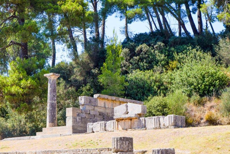 Olympia antiga, Greece foto de stock