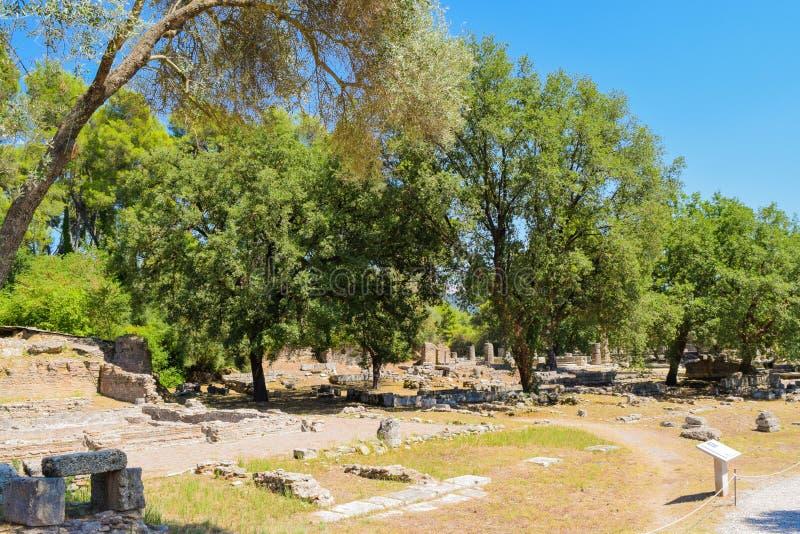 Olympia antiga, Greece imagem de stock