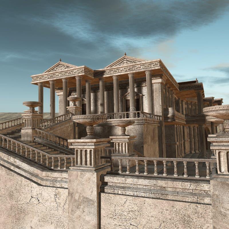 Olympia - een Griekse fantasieachtergrond stock illustratie