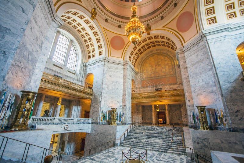 Olympia em Seattle Washington EUA o 5 de julho de 2018 Salão em Washington State Capitol Olympia fotos de stock