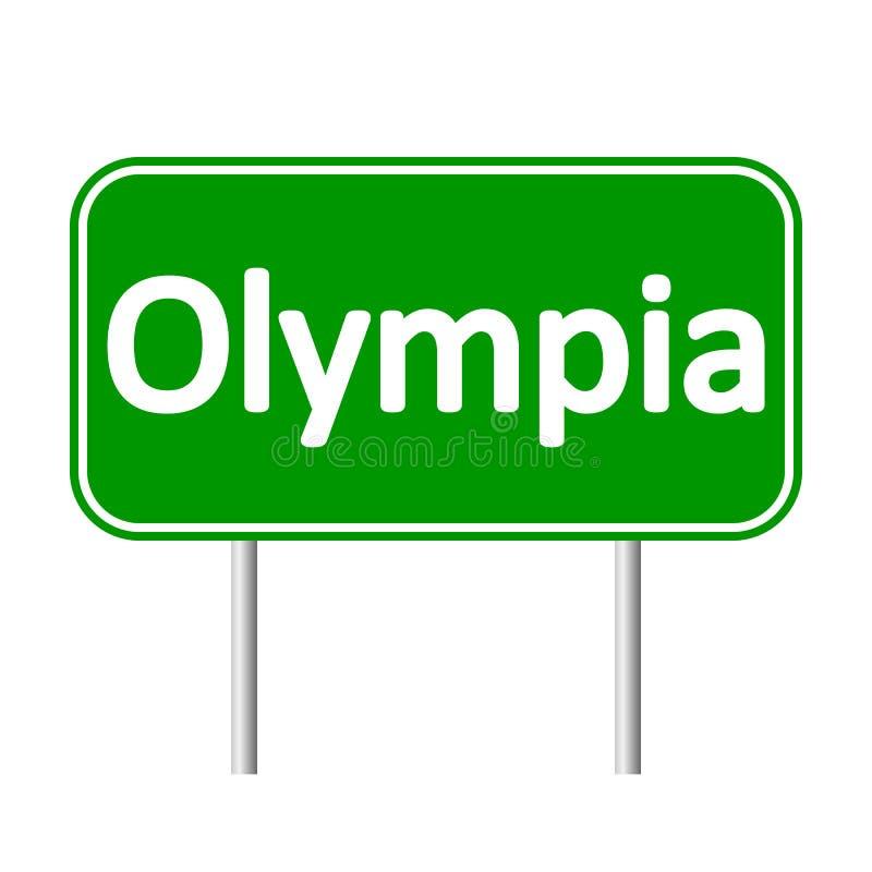 Olympia gräsplanvägmärke vektor illustrationer