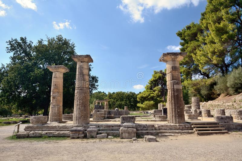Olympia in Greece stock image