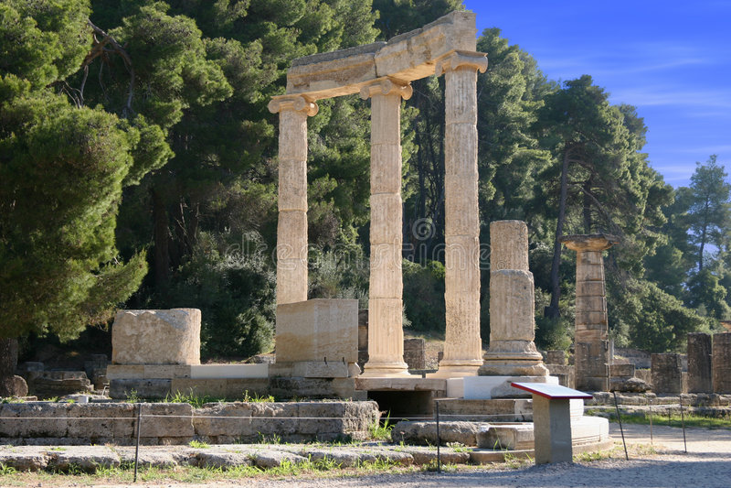 Olympia in Griechenland stockfotografie