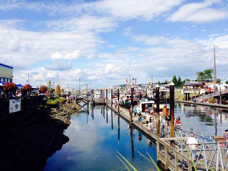 Olympia Harbor royalty-vrije stock foto