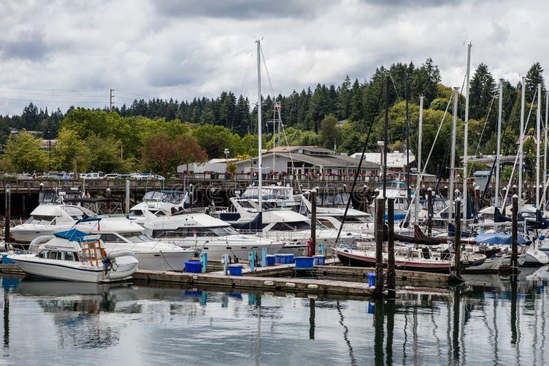 Olympia Harbor arkivfoto