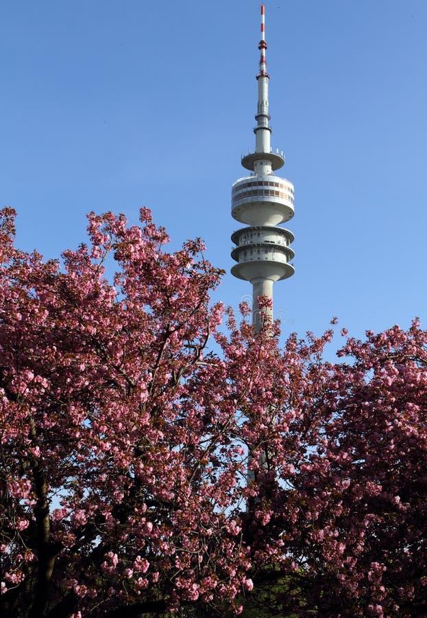 Olympia Park, Monaco di Baviera, Baviera, Germania, Olympiapark fotografie stock libere da diritti