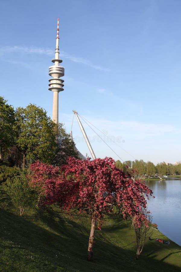 Olympia Park, Monaco di Baviera, Baviera, Germania, Olympiapark fotografia stock