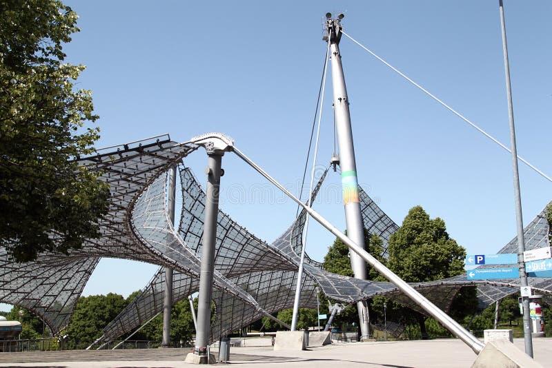Olympia Park på Munich royaltyfria bilder