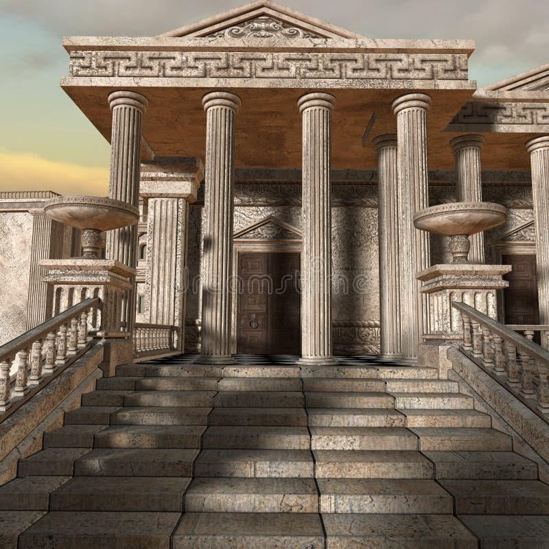 Olympia - un fondo griego de la fantasía ilustración del vector