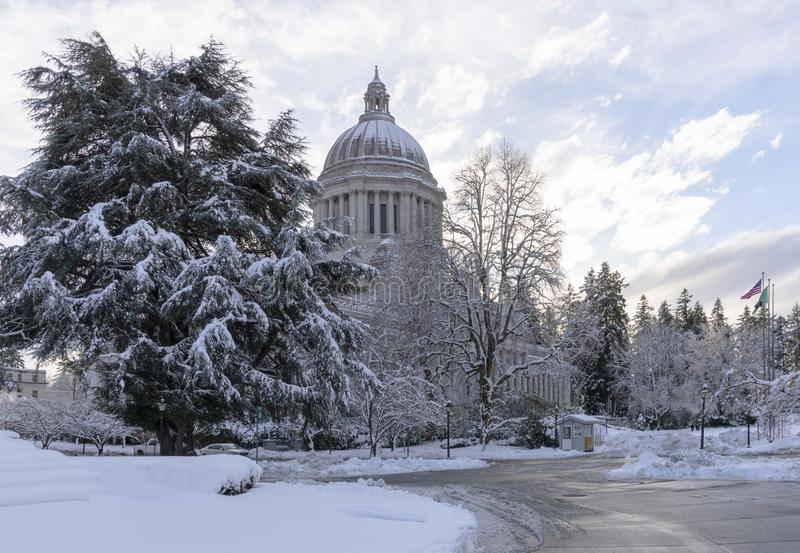 Washington State Capitol in Winter. royalty free stock images