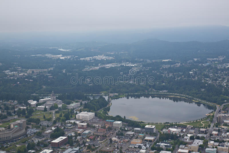Download Olympia Washington Aerial View Of Capital Building Stock Photo - Image of over, above: 25971908