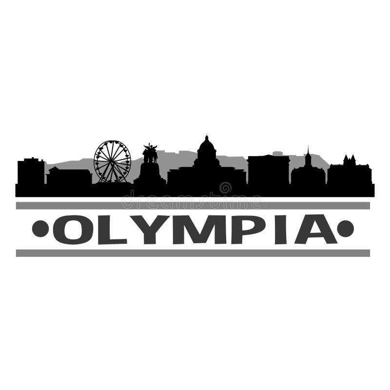 Olympia Skyline Symbol Design City Vector Art.