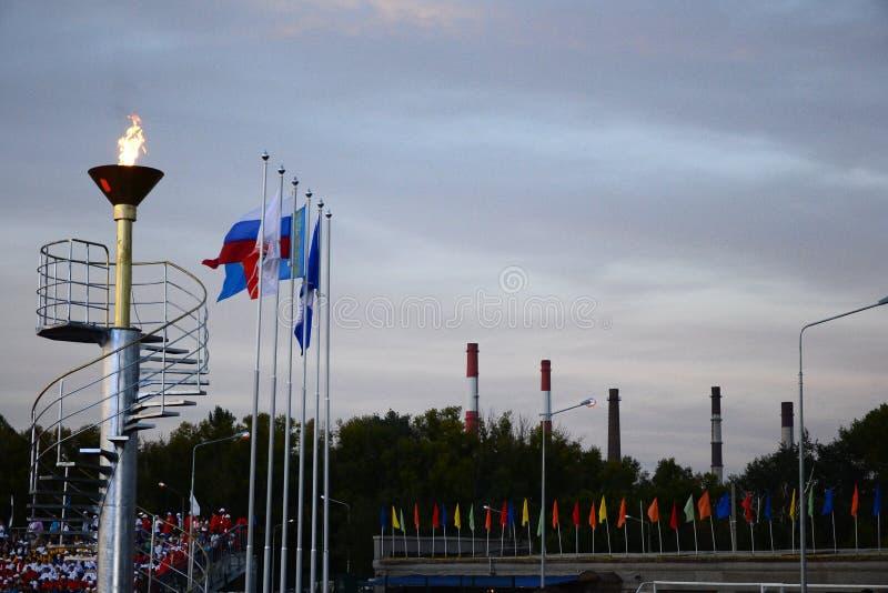 Olympiad för utomhus- sportar arkivbilder