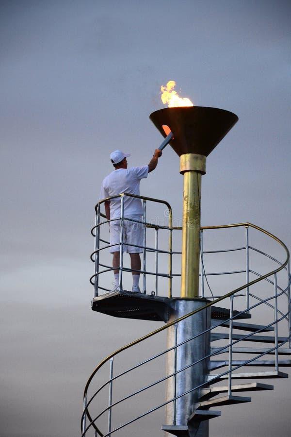 Olympiad för utomhus- sportar royaltyfri fotografi