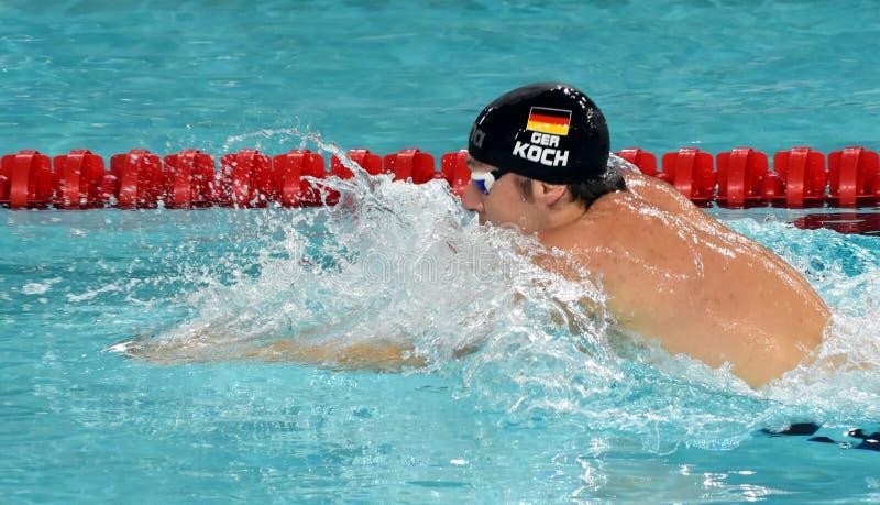 Olympian, wereldkampioen en recordhouderszwemmer Marco KOCH GER royalty-vrije stock fotografie