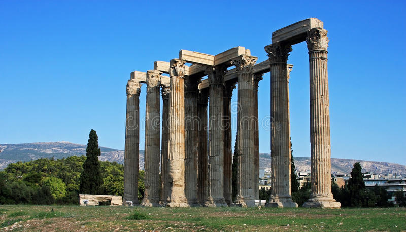 olympian zeus ναών στοκ φωτογραφία με δικαίωμα ελεύθερης χρήσης