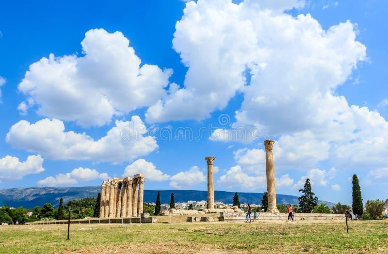 Olympian zeus temple stock photography