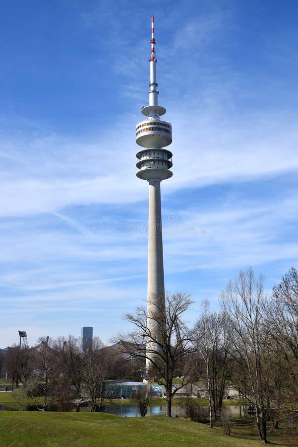 Olympiapark Мюнхен, Германия стоковые фотографии rf